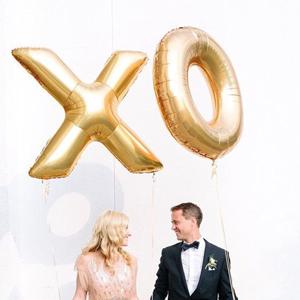 ballon lettres or mariage