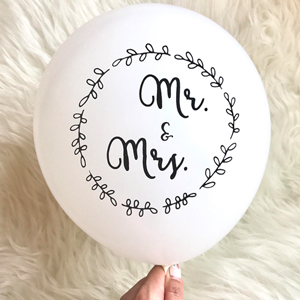 ballons mrs and ms mariage
