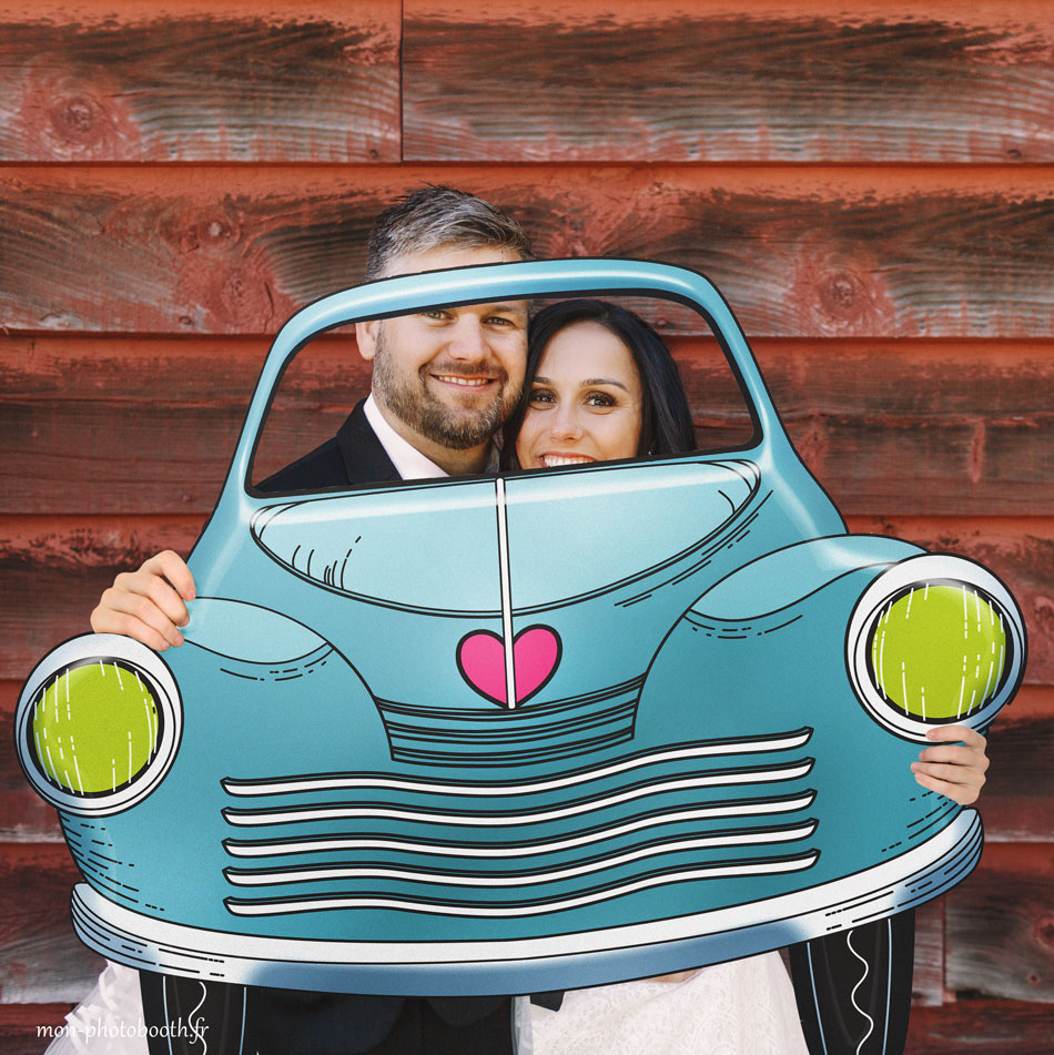 Cadre photobooth voiture mariage