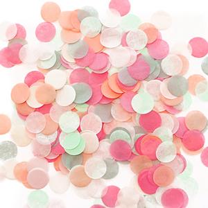 confettis mariage multicolore pastel