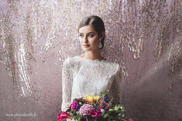 decor photobooth mariage paillettes