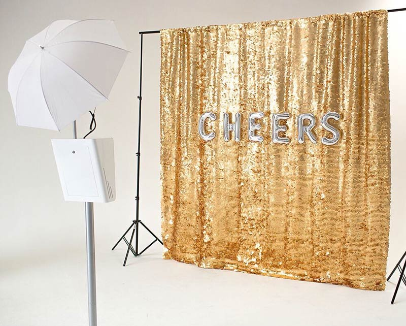decor photobooth mariage paillettes