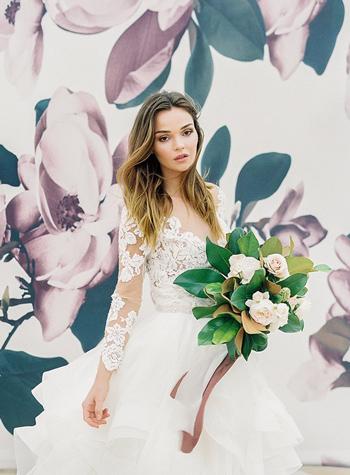 photocall mariage fleurs