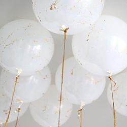 gros ballon mariage blanc or