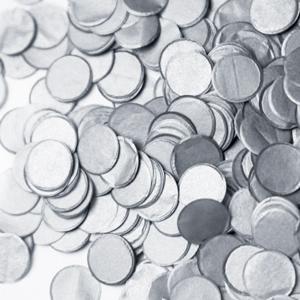 gros confettis mariage argent