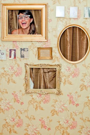 mur de cadres photobooth mariage