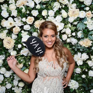 mur de fleurs mariage