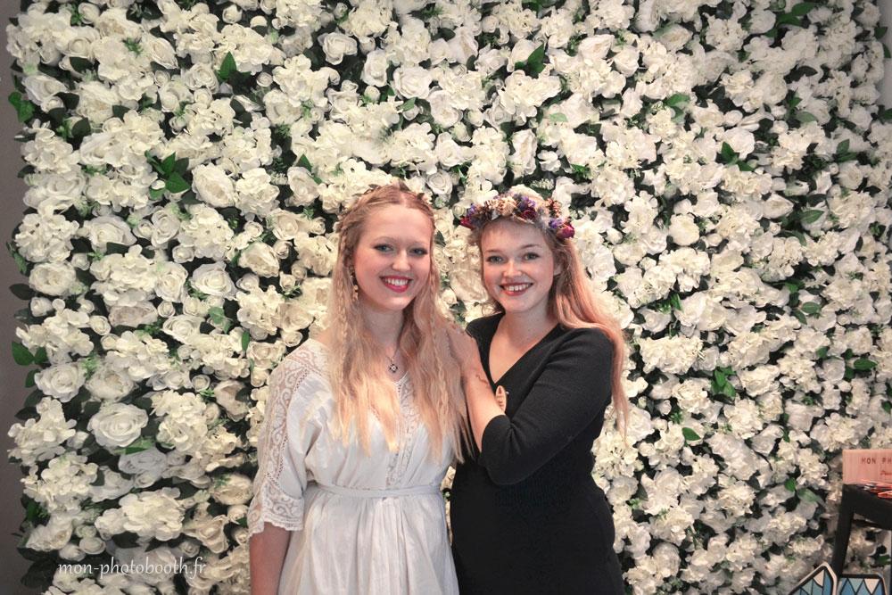 location mur de fleurs mariage