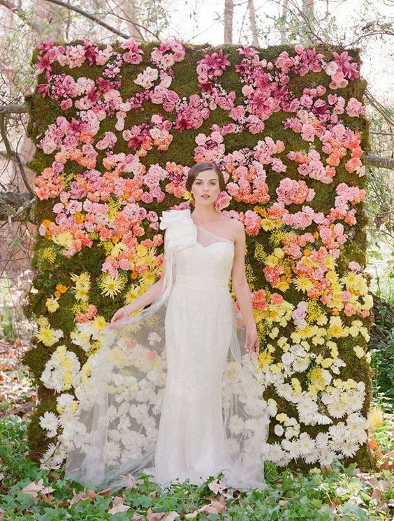 photooboth mur de fleurs