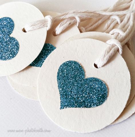Etiquettes d coration coeur paillettes 2 20 pi ces mon for Decoration exterieur st valentin