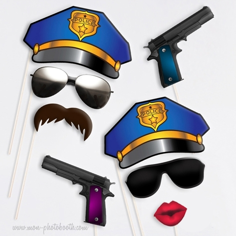 police academy taille enfant photobooth accessoires mon photobooth. Black Bedroom Furniture Sets. Home Design Ideas